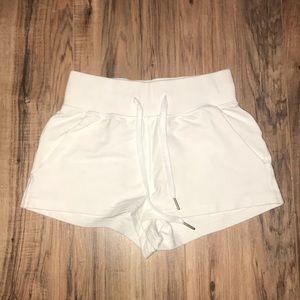 White high waisted Lululemon shorts!